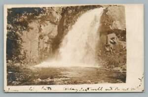 Water Falls MERIDEN Connecticut RPPC Antique Photo Postcard 1908