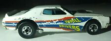 1974 Hot Wheels Thrill Drivers White Ford TORINO Hong Kong Blackwall Rare Car