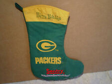 GREEN BAY PACKERS HAPPY HOLIDAYS CHRISTMAS STOCKING,sentry foods,nfl football