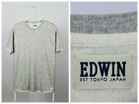 Mens Edwin Terry TS Sweatshirt Short Sleeve Grey Size L