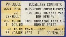 Don Henley Bonnie Raitt Concert Ticket Stub Riverport St Louis July 30 1991