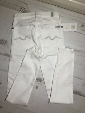 7 For All Mankind White Super Slim Jeans Size 23 NEW!