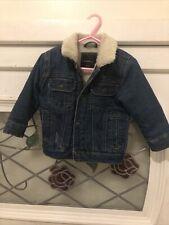 12-18m Baby Boy Denim Sheep Fleece Coat By RESERVED
