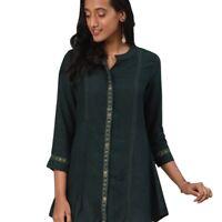 Women Top Pakistani Indian Short Embroidery Rayon Kurti Kurta Shirt Tunic Dress
