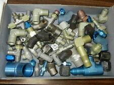 New listing Lot #5 Mixed An Ms Fittings Military Surplus Aircraft Supply Pipes Elbow T Joint