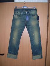 Ralph Lauren blue Label Gold Miner Jeans Painted Distressed W25 L32 NEU
