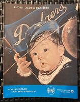 Rare Vintage 1962 Los Angeles Dodgers Baseball Official Program Score Card #3