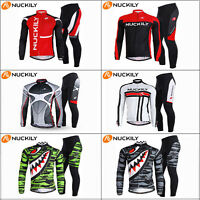 Men's Cycling Outfits Jersey & Pants Kits Bike Bicycle Jackets Top Trousers Sets