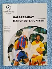 1994 - GALATASARAY v MANCHESTER UTD PROGRAMME - CHAMPIONS LEAGUE