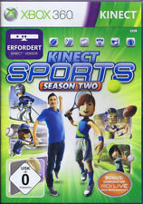 Kinect SPORTS SEASON TWO XBOX 360 Freccette Golf Tennis FOOTBALL sci Baseball