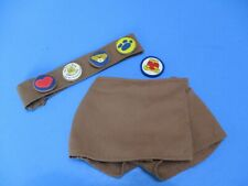 Build-A-Bear Girl Scout Brownie Skort Sash 5 Patches Uniform Clothes Outfit