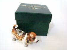 Dept 56 Jeweled Trinket Box - Jeweled Hound Dog Hinged Box