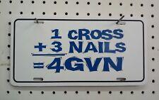 "6"" X 12""  1 CROSS + 3 NAILS = 4GVN STYRENE PLASTIC  TAG"