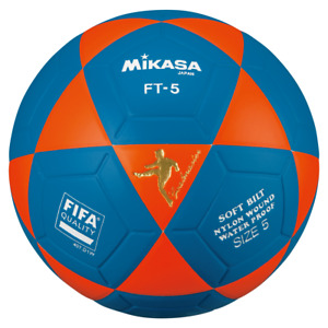 Mikasa FT5 Goal Master Soccer Ball Size 5 Official FootVolley Ball Orange-Blue