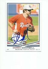 DEREK CAMPBELL Autographed Signed 2017 card Reading Fightins Phillies COA