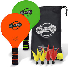 Funsparks Jazzminton Paddle Ball Game With Carry Bag - Indoor Outdoor Toy - Play