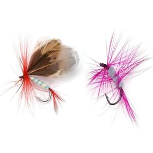 12Pcs Insects Flies Fly Fishing Lures Bait High Carbon Steel Hook Fishing Tackle