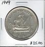 Canada 1949 Silver Dollar $1 Lot#9