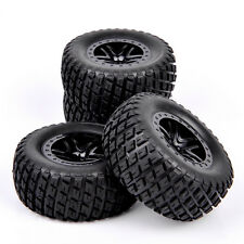 4PC 1/10 Scale RC Short Course Truck Off-road Tire & Dual Spoke Wheel 29001