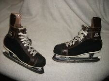 VINTAGE CCM ICE HOCKEY SKATES MEN'S SIZE 9 TUBE BLADES, GREAT SHAPE PRO MODEL