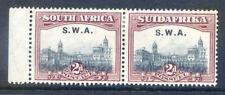South West Africa 1927 2d Union Building. perf 13½ mint pair (2018/05/21#08