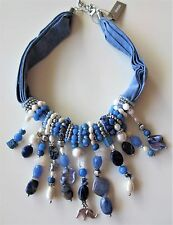 "NWT $89 CHICO'S SCENIC BLUE BIB NECKLACE, ""Be the Buyer"" poll winner."