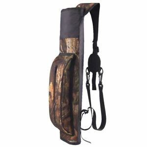 Archery Quiver Back Waist Shoulder Bag Arrow Bow Pouch Holder for Target Hunting