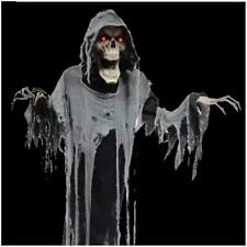 VIDEO 72 in Animated Hanging Reaper Grave Outdoor Halloween Decoration Prop Yard