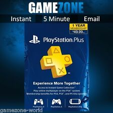 PlayStation Plus PSN 365 Days Card - 12 Month PS US Code - Sony Ps4 1 Year