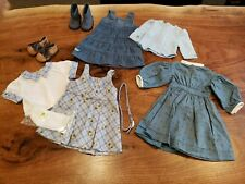 American Girl Kit's Blue Plaid School Outfit & Kirsten Everyday Play Blue Dress