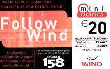 1619 SCHEDA RICARICA USATA WIND 20 FOLLOW 31/12/2005 OCR 18 CAB 48
