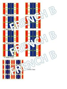 1/72 Napoleonic French B Flags lot