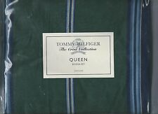 Tommy Hilfiger Hunter House Green Blue Stripe Queen Bed Skirt Crest Collection