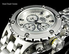Invicta 52MM Specialty Subaqua Silver Guilloché Dial All Silver Bracelet Watch