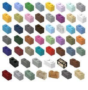 ☀️NEW! LEGO 1x2 LEGOS BRICKS Pick Size & Color 10 or 100 3004 Bulk Parts
