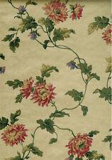 Floral Design on a Gold Fine Crackle Background Wallpaper - ET30057