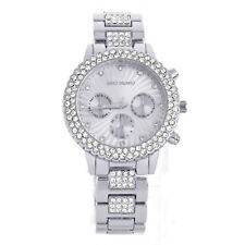 Women's Fashion Bling Bling Iced Silver Plated Metal Watches WM 8806 S