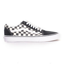 Vans Old Skool (Primary Check Black/White) Men's Skate Shoes