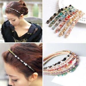 Bead Crystal Headband - Beautiful Womens Girls Alice Hair Head Band Accessories