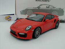 "Minichamps 110067120 - Porsche 911 (991) Turbo S Bj. 2016 in "" Lavaorange "" 1:18"