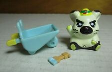 Hamtaro Ham-Ham Hamster Boss Mini Figure w/ Wheelbarrow Paintbrush Hasbro Xlc 16