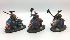 WARHAMMER AGE OF SIGMAR ORCS AND GOBLINS IRONJAWZ GORE-GRUNTAS BOARBOYS PAINTED