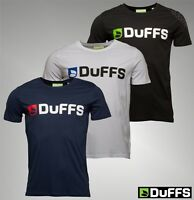 Mens DuFFS Cotton Short Sleeve Crew Top Logo Jersey T-Shirt Sizes from S to XXL