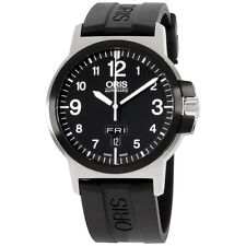 Oris BC3 Advanced Day Date Black Rubber Strap Men's Watch 73576414364RS