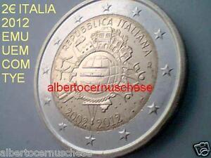 2 euro 2012 fdc ITALIA italie italien italy EMU UEM COM TYE 10 anni Италия