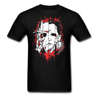 Face of Evil Freddie Jason Michael Leather Halloween gift T-Shirt plus sizes