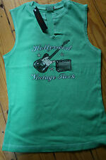 Hank made in Hollywood mint cotton vest Tshirt Vintage Rock size Large crystals