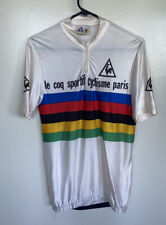 VTG Le Coq Sportif Cyclisme Paris Rainbow Stripe Cycling Jersey S/S Shiny France