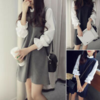 Dress Size Elegant Blouse Korean Casual Sleeve Line Party Shirt Long Tops Loose