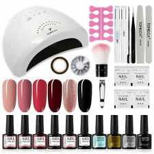 TOMICCA Gel Nail Polish Kit with 48W UV/LED Light Nail Lamp with Base Top Coat